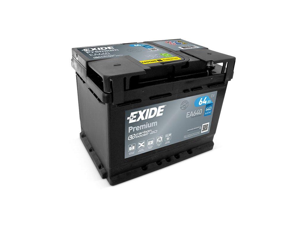 Autobaterie EXIDE Premium 64Ah, 12V, EA640