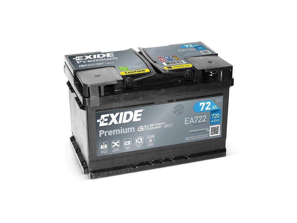 Autobaterie EXIDE Premium 72Ah, 12V, EA722