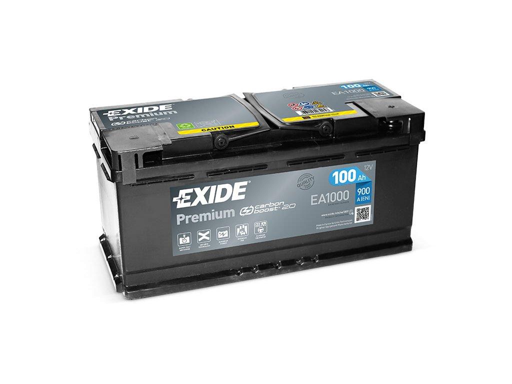 Autobaterie EXIDE Premium 100Ah, 12V, EA1000