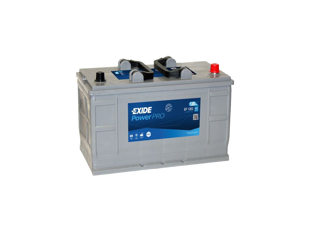 Autobaterie EXIDE PowerPRO 120Ah, 12V, EF1202