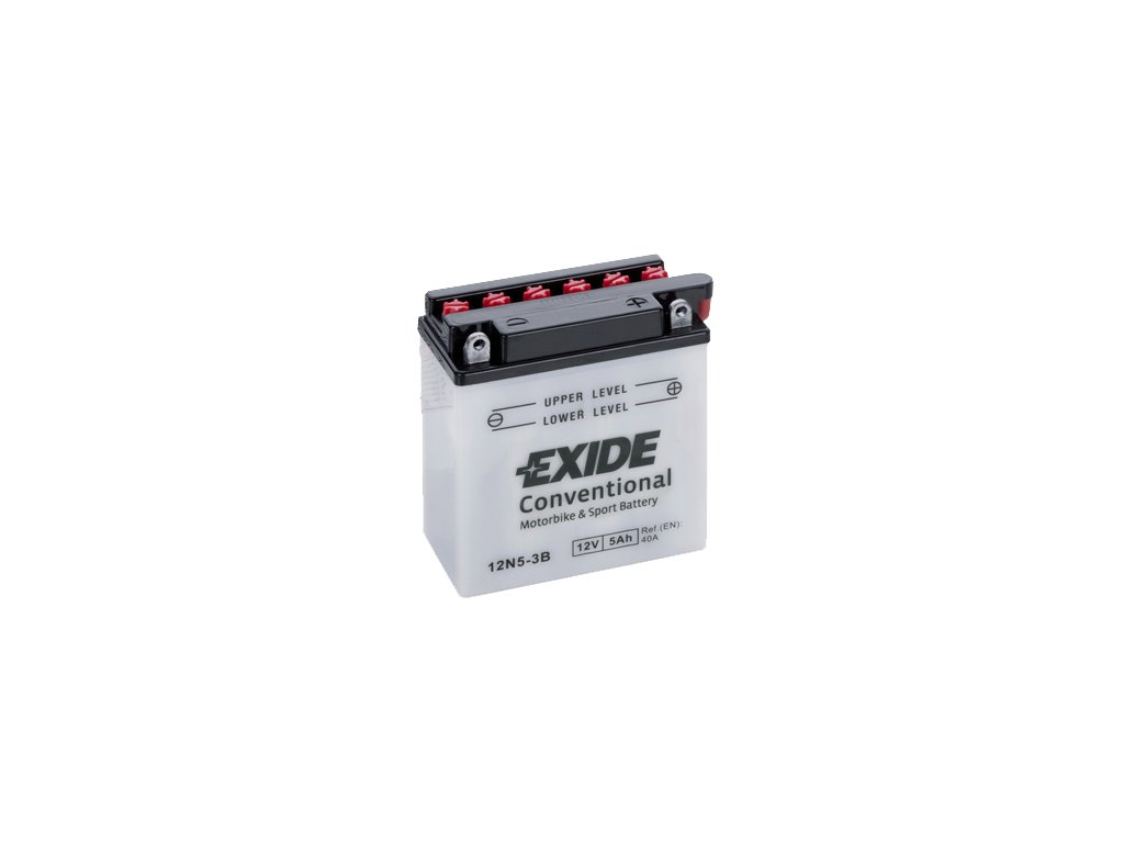 Motobaterie EXIDE BIKE Conventional 5Ah, 12V, 12N5-3B / EB5L-B