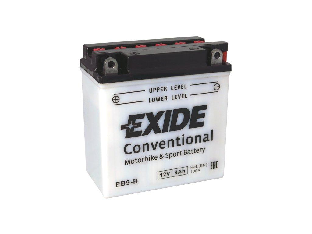 Motobaterie EXIDE BIKE Conventional 9Ah, 12V, EB9-B / 12N9-4B-1