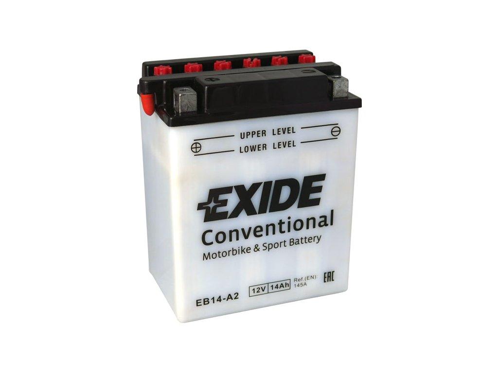 Motobaterie EXIDE BIKE Conventional 14Ah, 12V, EB14-A2
