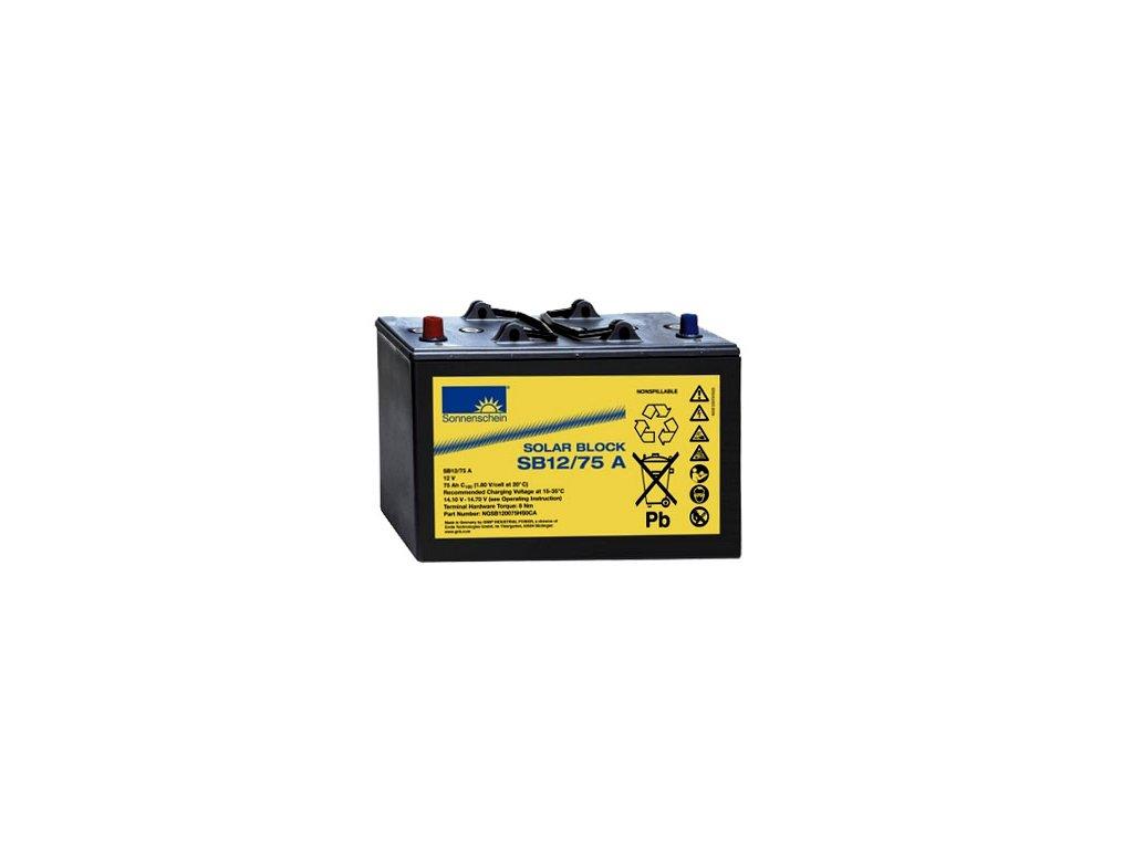 Gelový trakční akumulátor SONNENSCHEIN SB 12/75 A, 12V, C5/60Ah, C20/70Ah