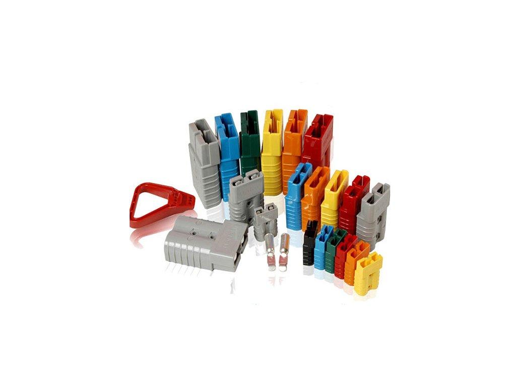 Konektor 2 pólový 50A 12V žlutý SC50