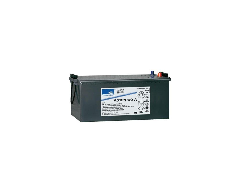 Gelový trakční akumulátor SONNENSCHEIN A512-200A, 12V, 200Ah