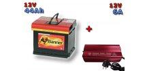 Výhodný set autobaterie Banner Power Bull P44 09, 44Ah, 12V ( P4409 )a multifunkční Nabíječky FST ABC-1206