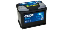 Autobaterie EXIDE Excell 62Ah, 12V, EB621
