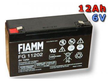 Olověný akumulátor Fiamm FG11202 12Ah 6V (VRLA)