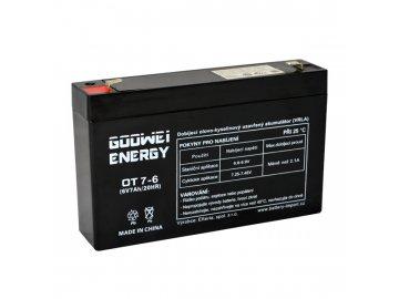 Staniční (záložní) baterie GOOWEI ENERGY OT7-6, 7Ah, 6V ( VRLA )