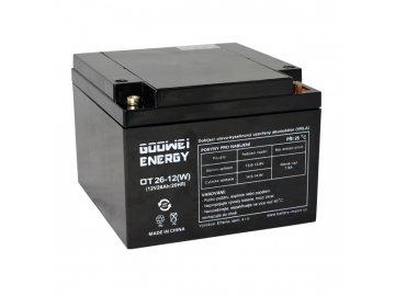 Trakční (GEL) baterie GOOWEI ENERGY OTL26-12, 26Ah, 12V