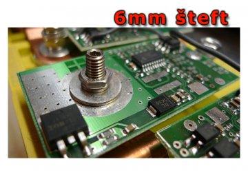 Nerezový šteft 6mm pro článek 40Ah