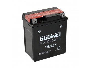 Motobaterie GOOWEI YTX7L-BS, 6Ah, 12V