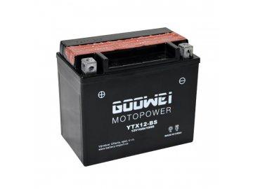 Motobaterie GOOWEI YTX12-BS, 10Ah, 12V
