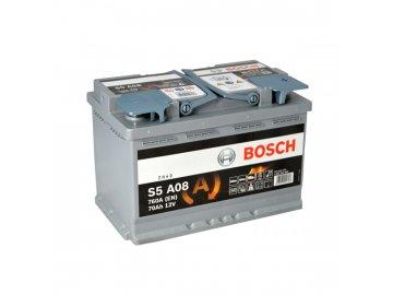 Autobaterie BOSCH S5A 080, 70Ah, 12V, AGM (0 092 S5A 080)