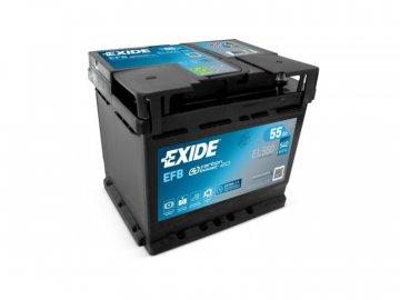 Autobaterie EXIDE START-STOP EFB 55Ah, 12V, EL550