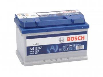 Autobaterie BOSCH S4 E07, 65Ah, 12V, EFB (0 092 S4E 070)