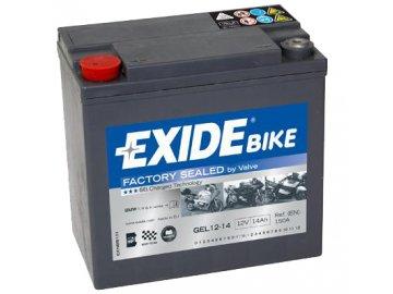 Motobaterie EXIDE BIKE Factory Sealed 14Ah, 12V, GEL12-14
