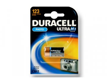 Duracell DL123, 3 V 500 mAh, Lithium ion neoriginální