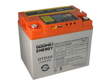 DEEP CYCLE (GEL) baterie GOOWEI ENERGY OTD33, 33Ah, 12V