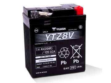 Motobaterie YUASA (originál, factory activated) YTZ8V, 12V,  7Ah