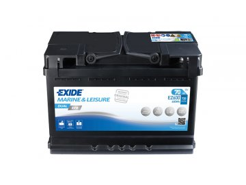 Baterie EXIDE DUAL EFB 70Ah, 12V, EZ600 (EZ 600)