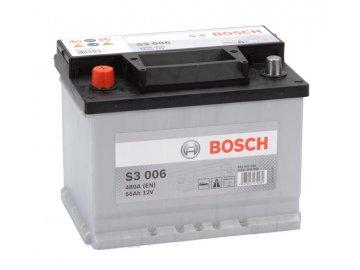Autobaterie BOSCH S3 006, 56Ah, 12V (0 092 S30 060)
