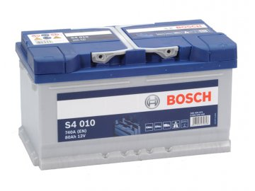 Autobaterie BOSCH S4 010, 80Ah, 12V (0 092 S40 100)