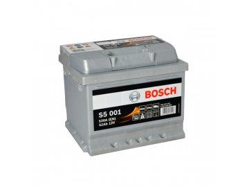 Autobaterie BOSCH S5 001, 52Ah, 12V (0 092 S50 010)
