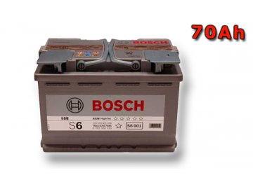 Autobaterie BOSCH S6 008, 70Ah, 12V