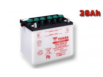 Motobaterie YUASA (originál) Y60-N24-A, 12V,  28Ah