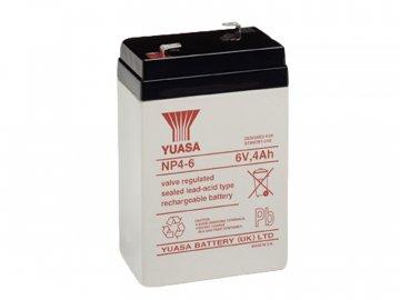 Staniční (záložní) baterie YUASA NP4-6,  4Ah, 6V