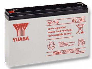 Staniční (záložní) baterie YUASA NP7-6,  7Ah, 6V