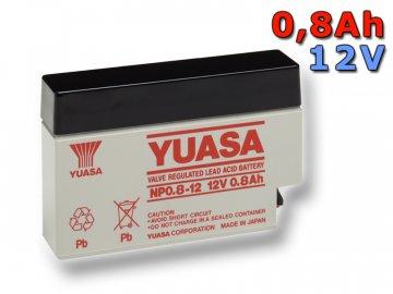 Staniční (záložní) baterie YUASA NP0.8-12,  0,8Ah, 12V
