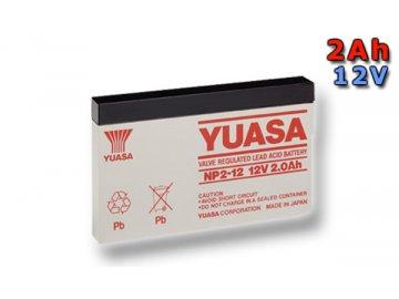 Staniční (záložní) baterie YUASA NP2-12,  2Ah, 12V