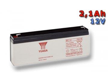 Staniční (záložní) baterie YUASA NP2.1-12,  2,1Ah, 12V