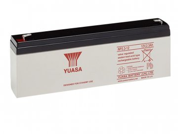 Staniční (záložní) baterie YUASA NP2.3-12,  2,3Ah, 12V