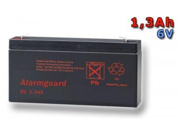 Staniční (záložní) baterie ALARMGUARD CJ6-1.3, 1,3Ah, 6V