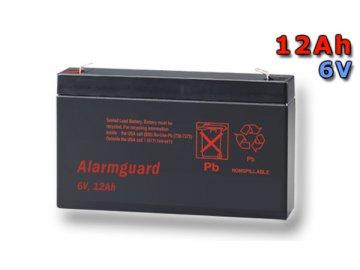 Staniční (záložní) baterie ALARMGUARD CJ6-12, 12Ah, 6V