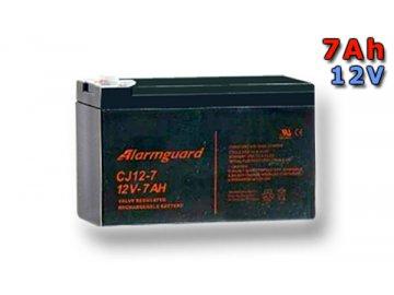 Staniční (záložní) baterie ALARMGUARD CJ12-7, 7Ah, 12V