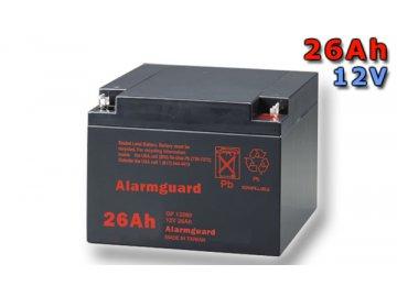 Staniční (záložní) baterie ALARMGUARD CJ12-26, 26Ah, 12V