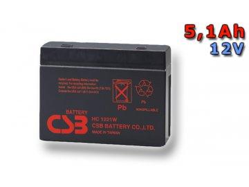 Baterie CSB HC1221W, 5,1Ah, 12V