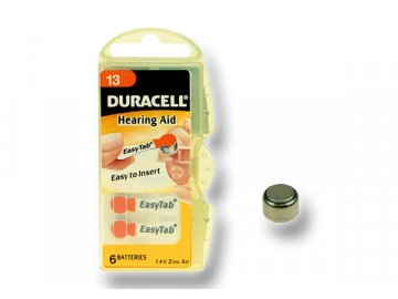 DURACELL zinkový článek pro naslouchadlo 1.4V, 13 (DA13)
