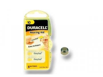 DURACELL zinkový článek pro naslouchadlo 1.4V, 10 (DA10)