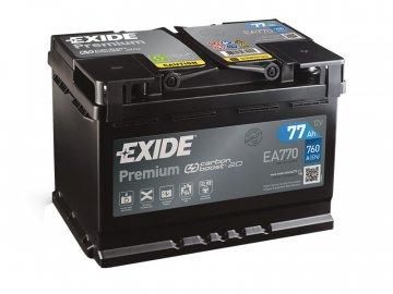 Autobaterie EXIDE Premium 77Ah, 12V, EA770