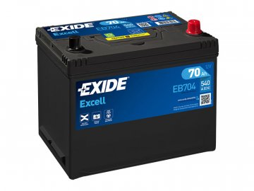 Autobaterie EXIDE Excell 70Ah, 12V, EB704