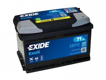 Autobaterie EXIDE Excell 71Ah, 12V, EB712