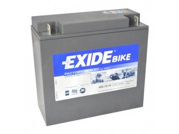 Motobaterie EXIDE BIKE Factory Sealed 16Ah, 12V, GEL12-16