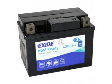 Motobaterie EXIDE BIKE Factory Sealed 3Ah, 12V, AGM12-4  (YTX4L-BS)