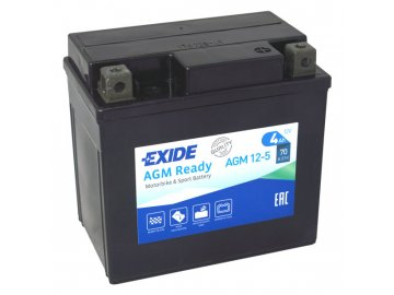 Motobaterie EXIDE BIKE Factory Sealed 4Ah, 12V, AGM12-5 (YTX5L-BS)
